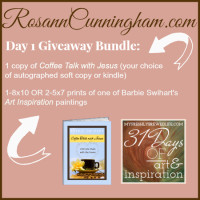 Day 1 Giveaway: Coffee Talk with Jesus and a Little Bit of Art Inspiration