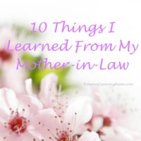 10 Things I Learned From My Mother-in-Law