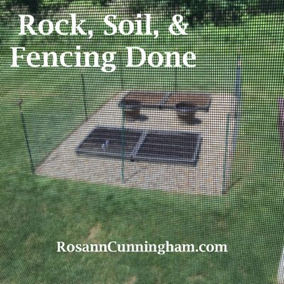 Rock, Soil, and Fencing Done